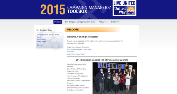 United Way Toledo - Campaign Managers' Toolbox